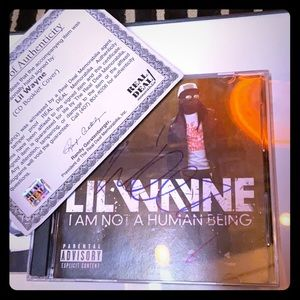 Signed Lil Wayne I am not a human being!!!!